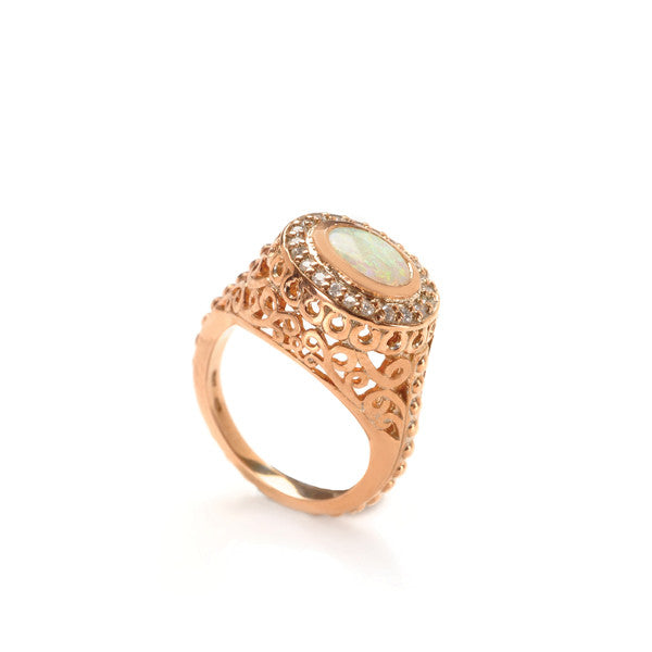 Emmeline Cocktail Ring- Opal