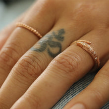 Load image into Gallery viewer, Fallen Serpent Ring- 14K Rose Gold