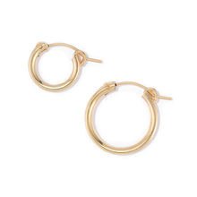 Load image into Gallery viewer, Single Stone Charm Hoop Earring