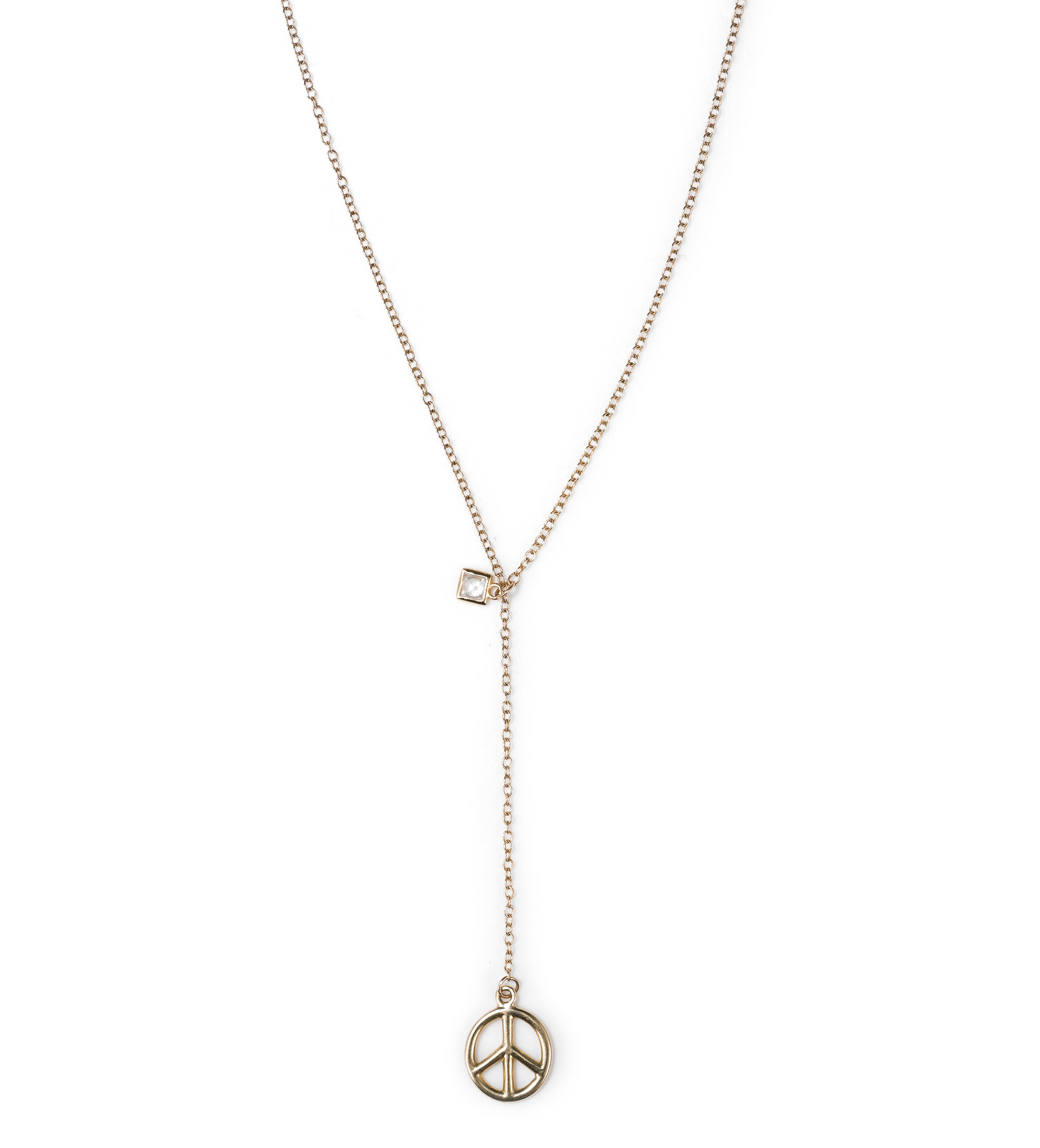 Peace Lariat  Necklace