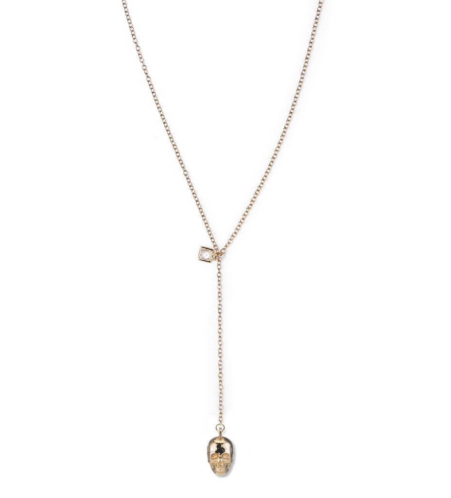 Naked Skull Lariat  Necklace