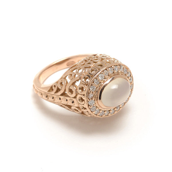 Emmeline Cocktail Ring- Moonstone
