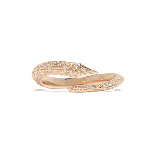 Fallen Serpent Ring- 14K Rose Gold
