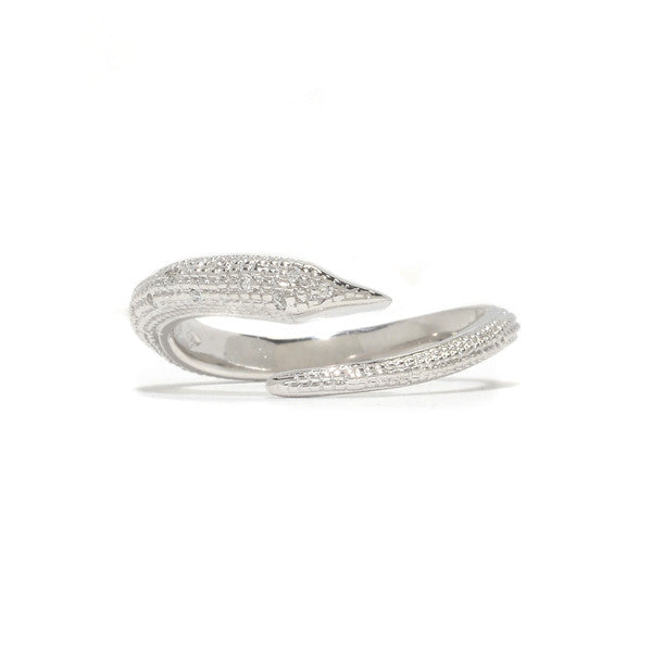 Fallen Serpent Ring- 14K White Gold