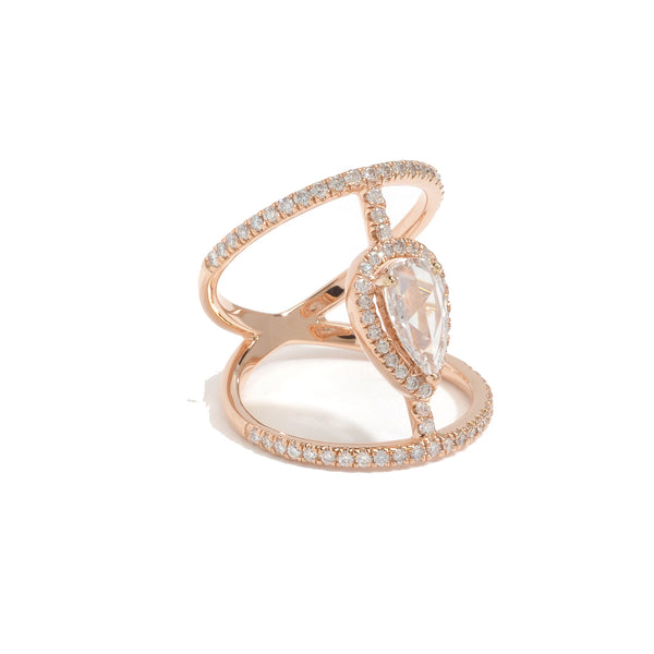 Diamond Bridge Love Twist- Pear