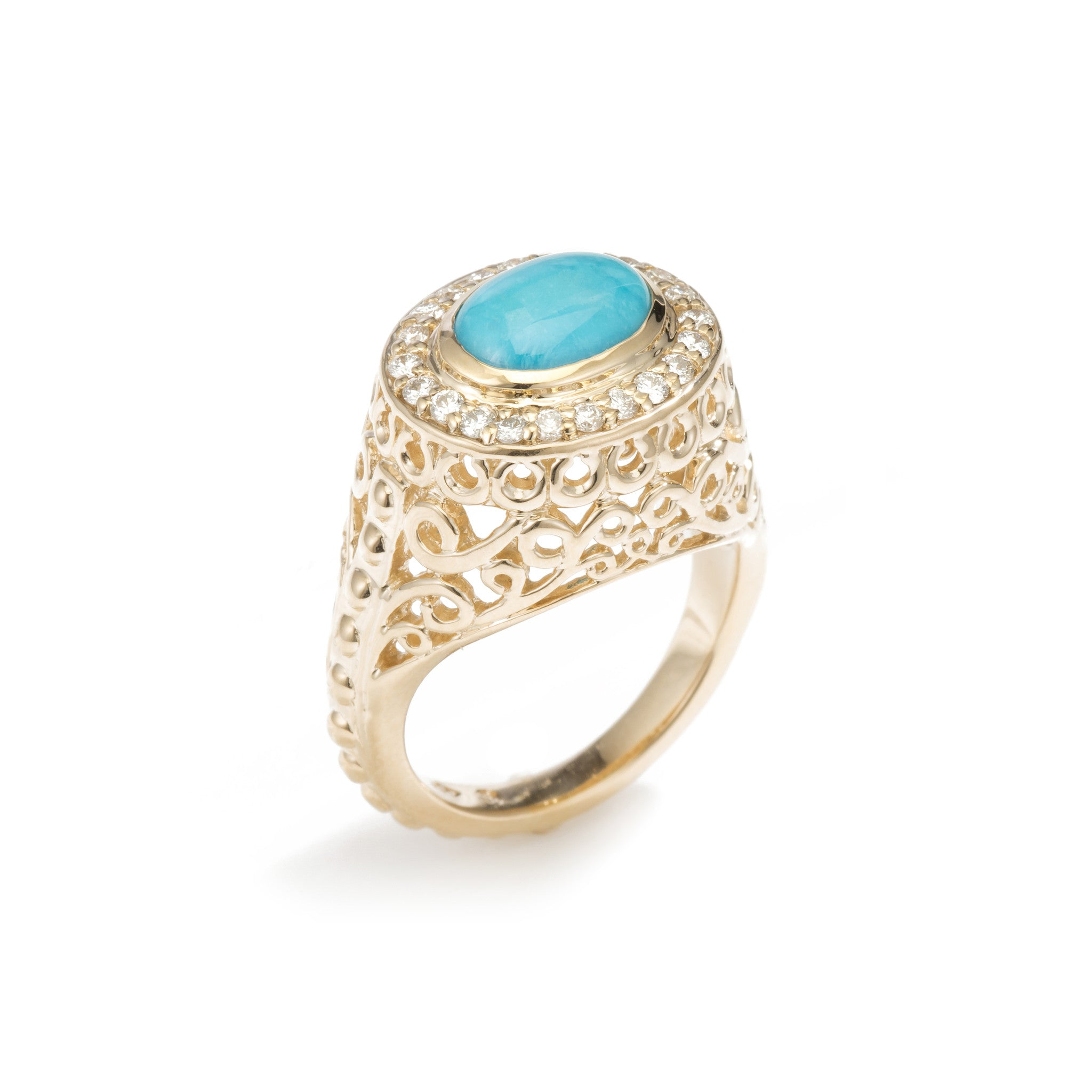 Emmeline Cocktail Ring- Turquoise