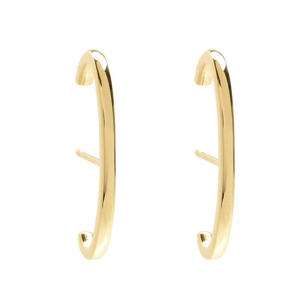 Solid Line Ear Cuffs- Yellow Gold