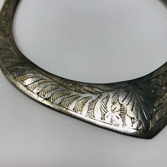 Sterling Silver Engraved Collar Necklace