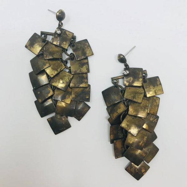 Chain Mail Chiclet Earrings