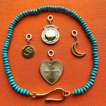 Load image into Gallery viewer, Turquoise Large Hook + Loop Necklace