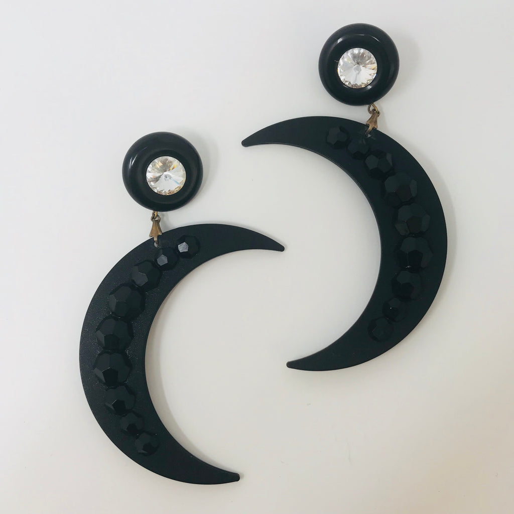 Over The Moon Earrings