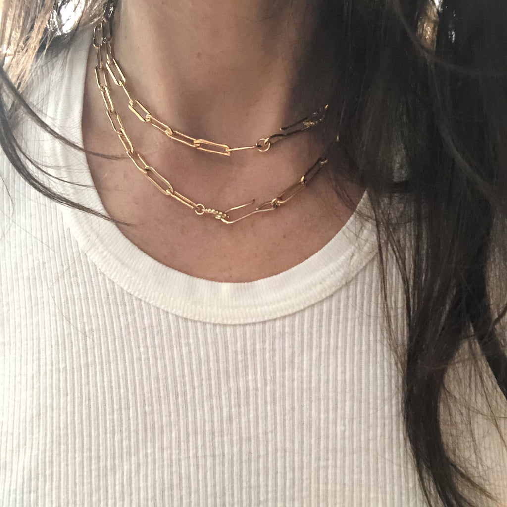 Hook + Loop Necklace- Nova Chain