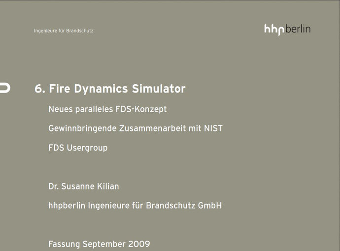 Fire Dynamics Simulator (Nr. 6)
