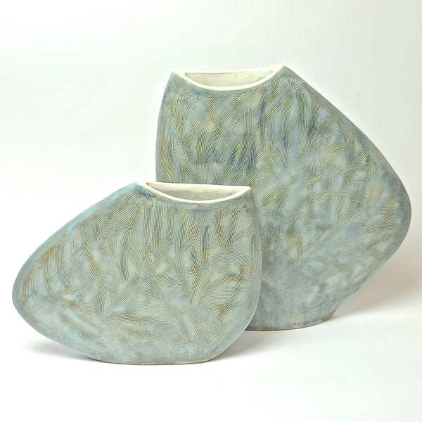 Sticks Collection: 2 Piece Pebble Vase Set (turquoise)