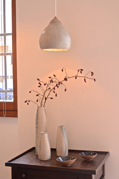 Red Clay Collection: Hanging Light (glossy white)