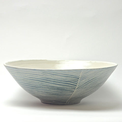 Contour Lines Collection: Large Serving Bowl (turquoise)