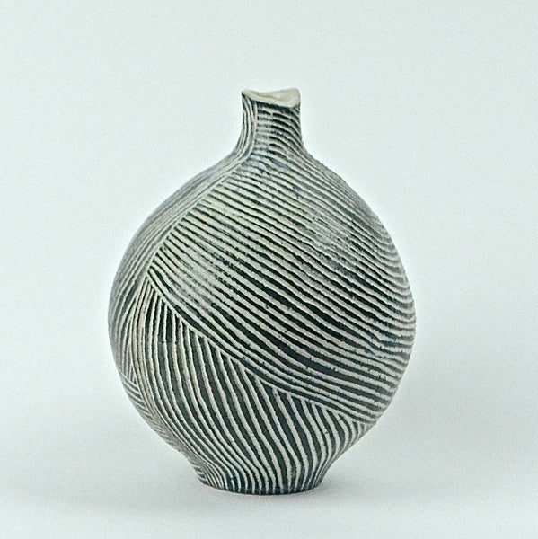 Contour Lines Collection: 2 Piece Round Vase Set (ombra)