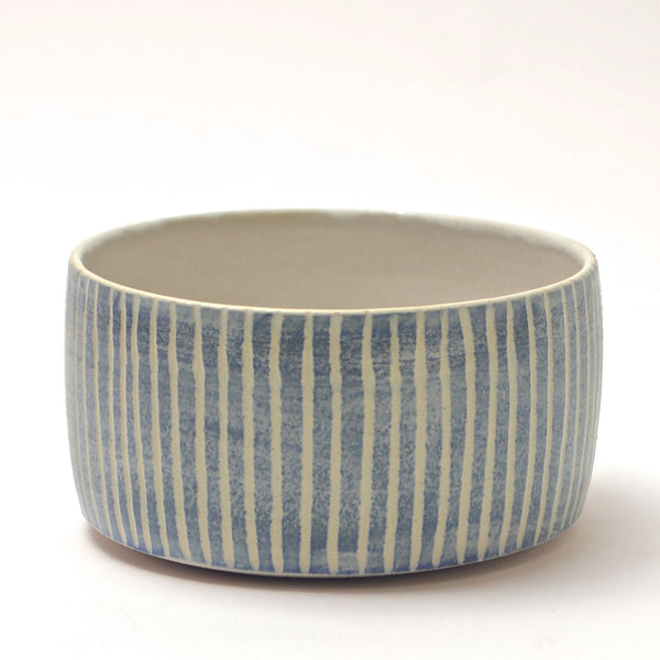Contour Lines Collection: Round Oliva Bowl (turquoise)