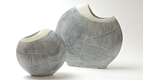 Contour Lines Collection: 2 Piece Fish Vase Set (ombra)