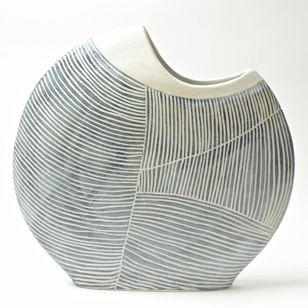 Contour Lines Collection: Large Fish Vase (ombra)