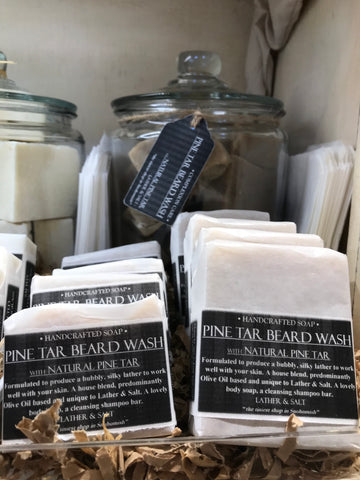 PINE TAR BEARD WASH HANDCRAFTED SOAP