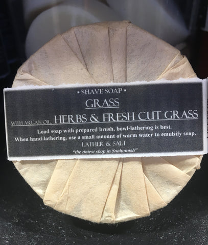 GRASS SHAVE SOAP