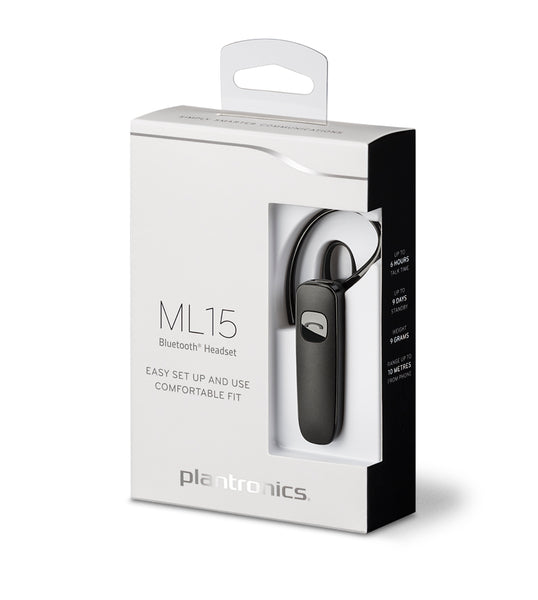 Plantronics ML15 Bluetooth Headset Retail Pack