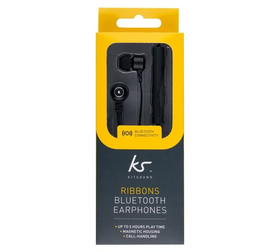 KITSOUND Ribbons Wireless Sport Bluetooth Headset Black