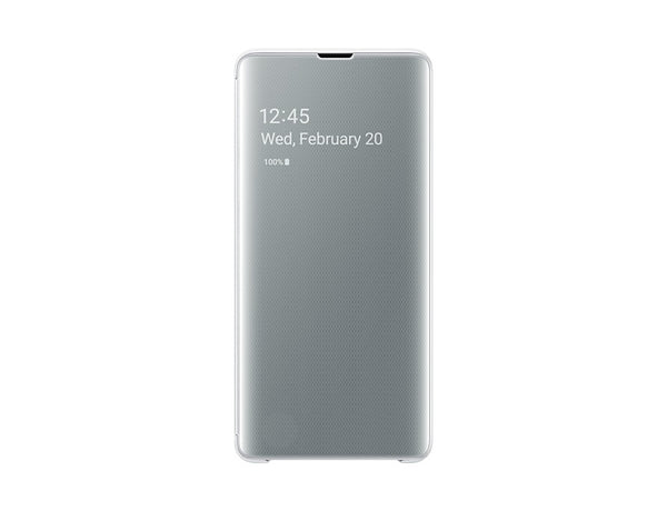 Samsung S10 Plus G975 Clear View Cover White EF-ZG975CWEGWW Retail Packed