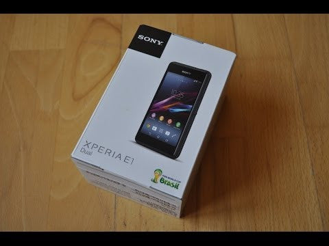 Sony Xperia E1 Empty Box
