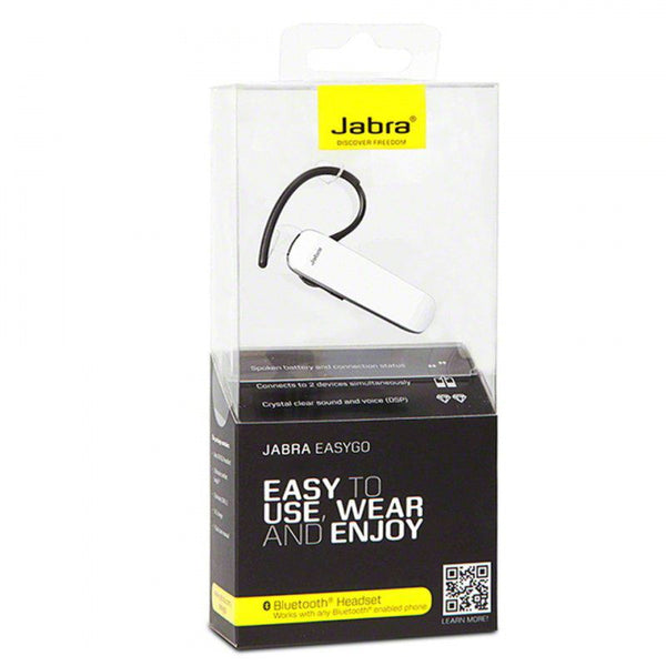 Jabra Easy Go Bluetooth Headset White Retail Packed
