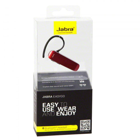 Jabra Easy Go Bluetooth Headset Red Retail Packed