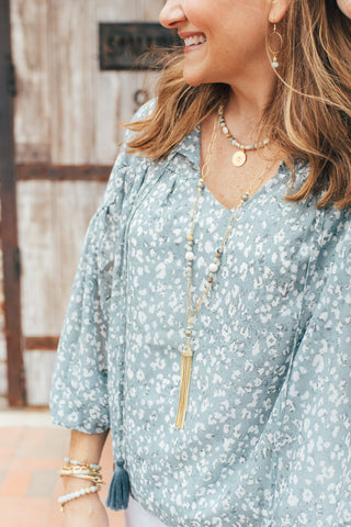 Touchstone Necklace - Ocean - Tassel