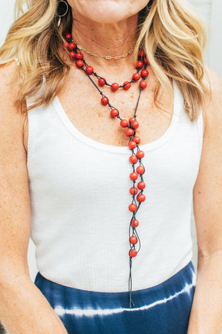 Red Prayer Beads