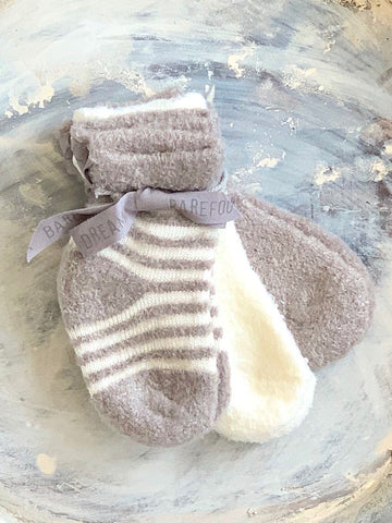 Barefoot Dreams Baby Socks Gray
