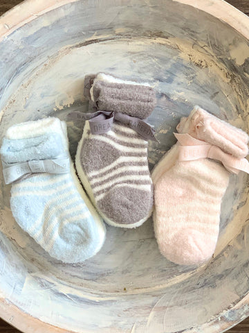 Barefoot Dreams Baby Socks Blue