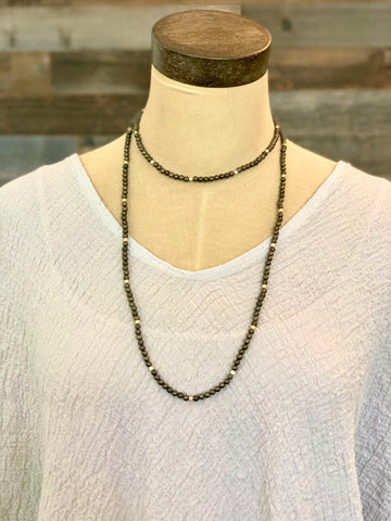 Pewter Stretch Necklace