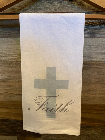Faith with Cross Towel