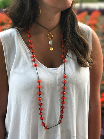Orange Prayer Beads