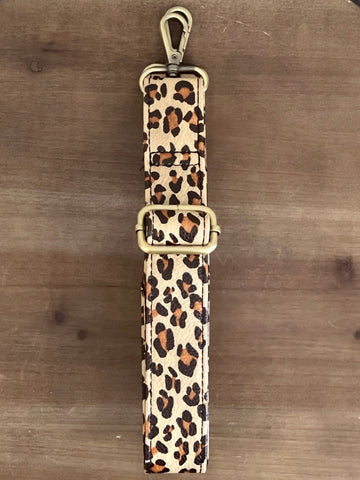 Adjustable Strap - Skinny Natural Leopard adjustable purse strap messenger bag strap handbag strap detachable purse strap LS012-15G