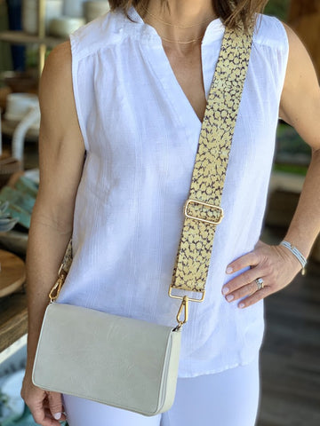 Adjustable Strap - Yellow Cheetah
