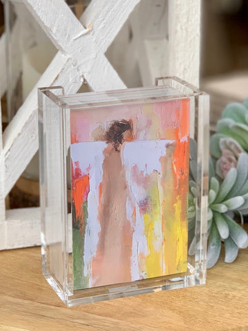 Anne Neilson 100 days of Gratitude Quotes Art Cards Lucite Holder Frame