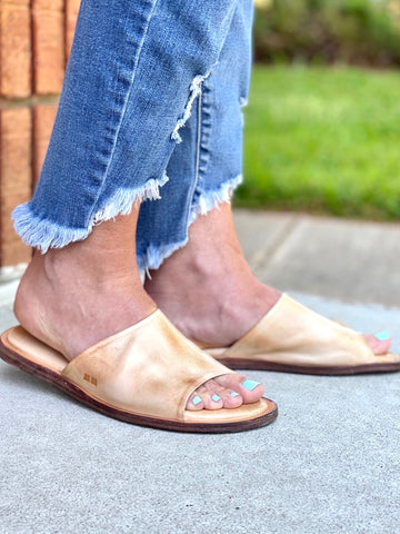 Bed Stu Kate Bone Rustic Slides Sandals Flats