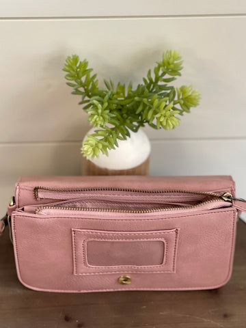 Day to Night Crossbody Clutch - Blush