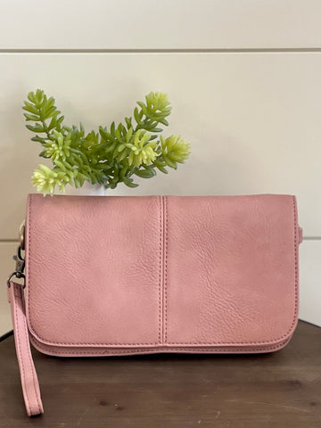 Day to Night Crossbody Clutch Blush