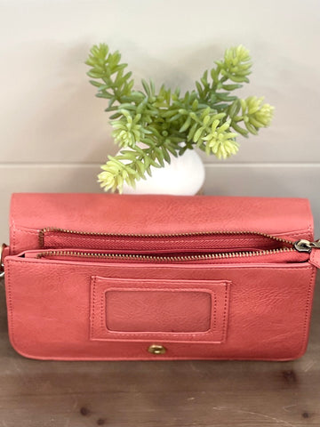 Day to Night Crossbody Clutch - Coral
