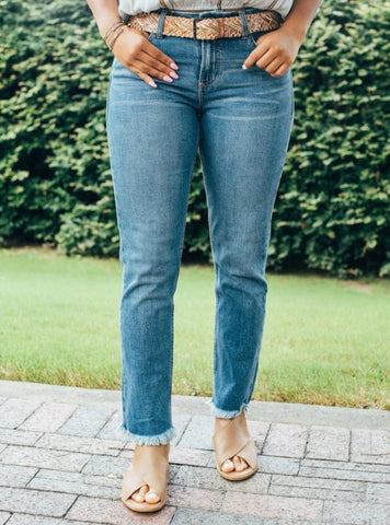Dear John Blaire Slim Straight Jeans - Breckland