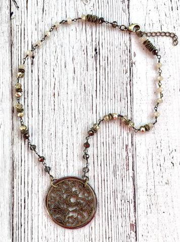 Dreamcatcher Necklace Coin Beaded Chain Extension