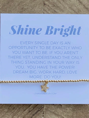 Lenny and Eva Shine Bright Bracelet Star Charm Gold