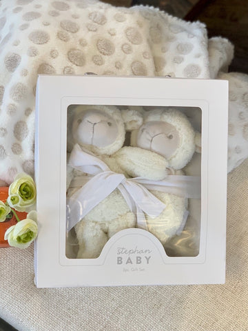 Little Lambs and Blanket Baby Gift Set